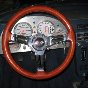 Steering Wheel (Mahogany Wood)
